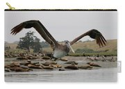 Pelican In Flight  Carry-all Pouch by Christy Pooschke