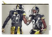 Pittsburgh Steelers.le'veon Bell And Antonio Brown Carry-all Pouch