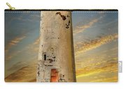 Point Of Ayr Lighthouse Sunset Carry-all Pouch
