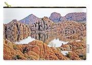 Prescott Arizona Watson Lake Rocks, Hills Water Sky Clouds 3122019 4868 Carry-all Pouch