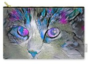 Purple Stained Glass Kitty Carry-all Pouch by Don Northup