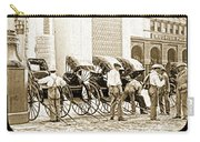 Rickshas And Drivers, 1904 Worlds Fair Carry-all Pouch