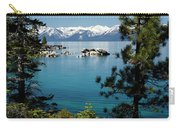 Rocks In A Lake With Mountain Range Carry-all Pouch