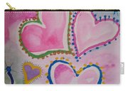 Seven Hearts Carry-all Pouch