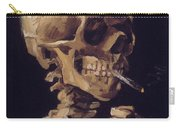 Skull With Cigarette  Carry-all Pouch