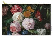 Still Life With Flowers In A Glass Vase, 1683 Carry-all Pouch
