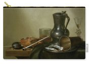 Still Life With Tobacco  Wine And A Pocket Watch  Carry-all Pouch