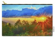 Sunrise On Mount Mitchell Digital Painting Carry-all Pouch by Alex Grichenko
