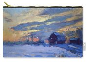 Sunset Over The Farm Carry-all Pouch