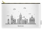 Syracuse, New York Cityscape Travel Poster Carry-all Pouch