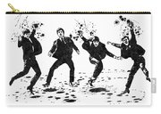 The Beatles Black And White Watercolor 01 Carry-all Pouch