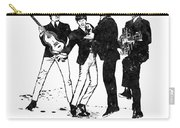 The Beatles Black And White Watercolor 02 Carry-all Pouch