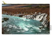 The Beautiful Cascades Of Hraunfossar In Iceland. Carry-all Pouch