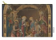 The Nativity With Saints Altarpiece  Carry-all Pouch