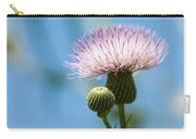 Thistle With Blue Sky Background Carry-all Pouch
