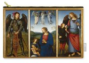 Three Panels From An Altarpiece  Certosa  Carry-all Pouch