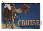 Vintage Poster -  Mediterranean Cruises Carry-all Pouch
