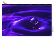 Water Drop Falling Into Water Carry-all Pouch