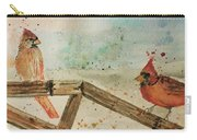 Winter Cardinals Carry-all Pouch by Denise Tomasura