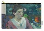 Woman In Front Of A Still Life By Cezanne Carry-all Pouch