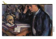 Young Man And Skull Carry-all Pouch