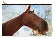 Horse In A Countryside Carry-all Pouch