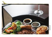 Sunday Roast Beef Traditional British Meal Set On Table Carry-all Pouch
