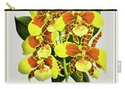 Orchid Vintage Print On Tinted Paperboard Carry-all Pouch