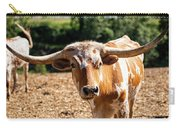 Longhorn Bull In The Paddock Carry-all Pouch