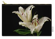White Lily On Black. Carry-all Pouch
