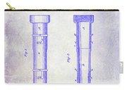 1860 Fire Hose Nozzle Patent Blueprint Carry-all Pouch