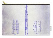 1871 Fire Hose Elevator Patent Blueprint  Carry-all Pouch