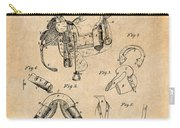 1880 Military Saddle Patent Print Antique Paper Carry-all Pouch