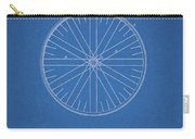 1885 Bicycle Wheel Patent Carry-all Pouch