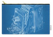 1887 Blair Photographic Camera Blueprint Patent Print Carry-all Pouch