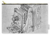 1887 Blair Photographic Camera Gray Patent Print Carry-all Pouch