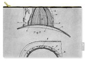 1889 Hopkins Fireman's Hat Gray Patent Print Carry-all Pouch
