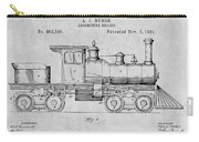 1891 Huber Locomotive Engine Gray Patent Print Carry-all Pouch