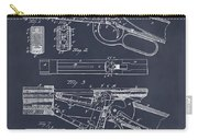 1894 Winchester Lever Action Rifle Blackboard Patent Print Carry-all Pouch
