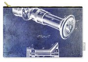 1896 Fire Hose Spray Nozzle Patent Blue Carry-all Pouch