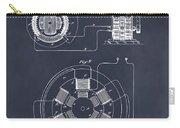 1896 Tesla Alternating Motor Blackboard Patent Print Carry-all Pouch