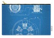 1896 Tesla Alternating Motor Blueprint Patent Print Carry-all Pouch