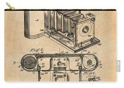 1899 Photographic Camera Patent Print Antique Paper Carry-all Pouch