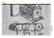1899 Photographic Camera Patent Print Gray Carry-all Pouch