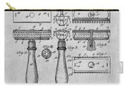 1901 Gillette Safety Razor Gray Patent Print Carry-all Pouch
