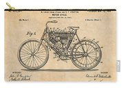 1901 Stratton Motorcycle Antique Paper Patent Print Carry-all Pouch
