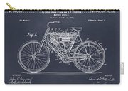 1901 Stratton Motorcycle Blackboard Patent Print Carry-all Pouch