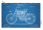 1901 Stratton Motorcycle Blueprint Patent Print Carry-all Pouch