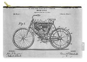 1901 Stratton Motorcycle Gray Patent Print Carry-all Pouch