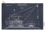 1903 Railroad Derrick Blackboard Patent Print Carry-all Pouch
